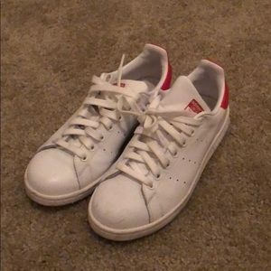 Stan Smith red adidas men's size 6
